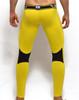 Mens Underwear  - Rear view of SUPANOVA hazard yellow leggings by SUPAWEAR