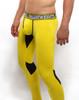 Mens Underwear  - Side view of SUPANOVA hazard yellow leggings by SUPAWEAR