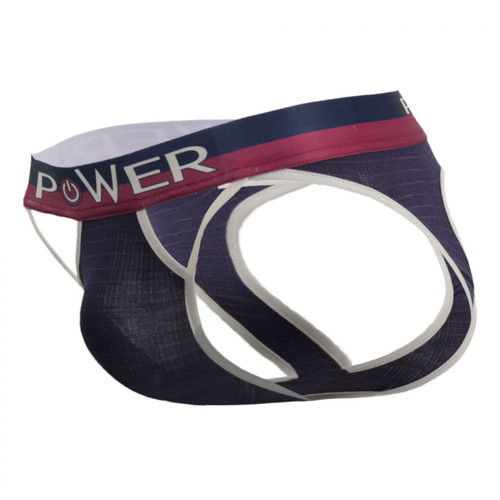 Mens Underwear - Front view of Male Power French Terry Cutout Jock Brief
