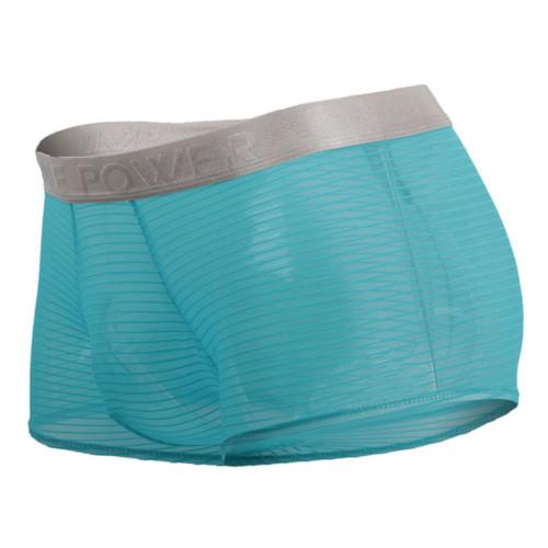 Mens Underwear - Front view of Male Power See Through Mesh Rib Mini Short