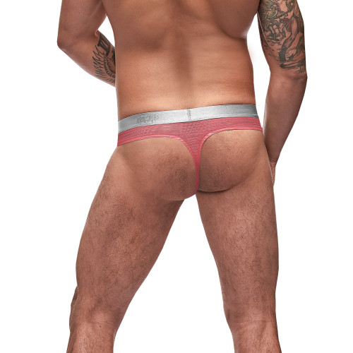 Mens Underwear - Front view of Male Power Mesh Rib Bong Thongs