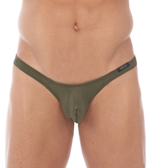 Front view of khaki Torrid thong by Gregg Homme