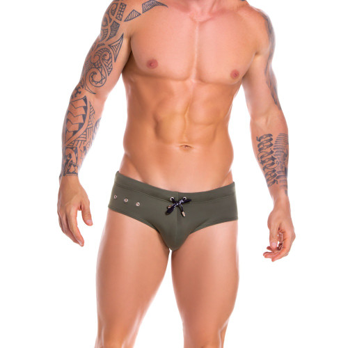 Mens Underwear - Front view of JOR Hot Swim Briefs - Stylish Full Cut Swim Trunk