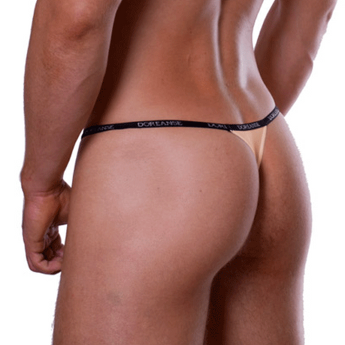 Mens Underwear - Front view of Doreanse Tan Aire Thong - Sexy Male Thong Underwear