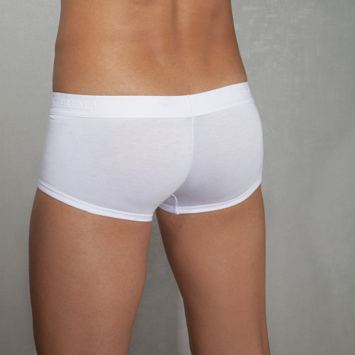 Doreanse White Low-rise Trunk - Low Cut Mens White Underwear