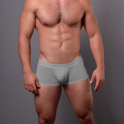 Mens Underwear - Front view of Doreanse Grey Low-rise Trunk - Cotton / Modal Mens Underwear