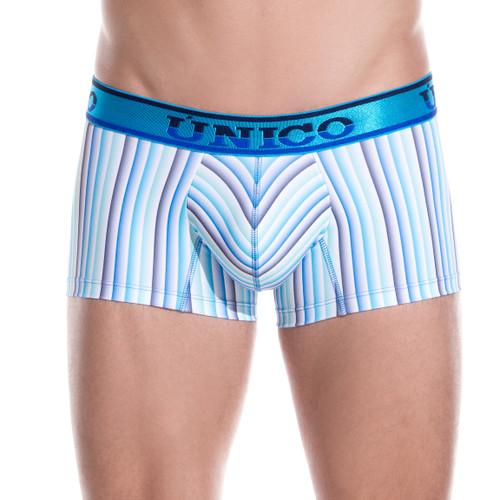 Mens Underwear - Front view of Unico Underwear Emerging Trunk - Mens Boxer Brief Style Underwear