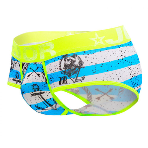 Mens Underwear - Front view of JOR Captain Briefs - Fun Nautical Inspired Printed Mens Briefs