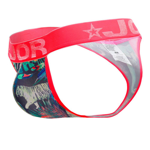 Mens Underwear - Front view of JOR Elephant Thong - Fun Printed Male Thong