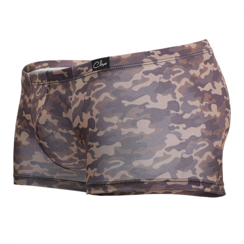 Mens Underwear - Front view of Clever Graciano Latin Boxer Briefs - Sexy Camouflage Print Mens Underwear