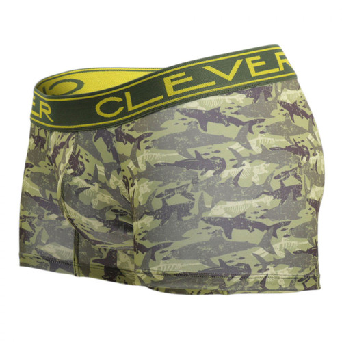 Mens Underwear - Front view of Clever Oton Boxer Briefs - Marine Animal Print Mens Underwear