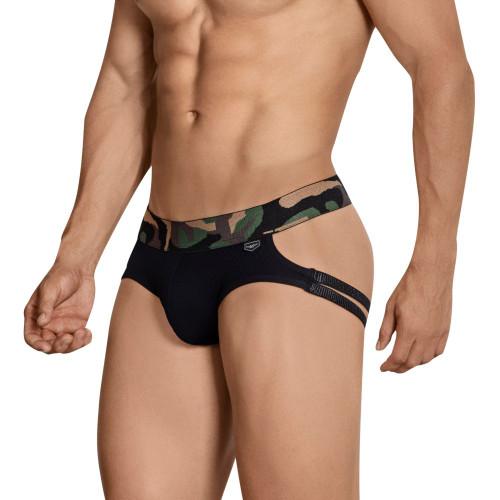 Mens Underwear - Front view of Clever Hostiliano Jockstrap - Sport Mesh Brief Style Jockstrap