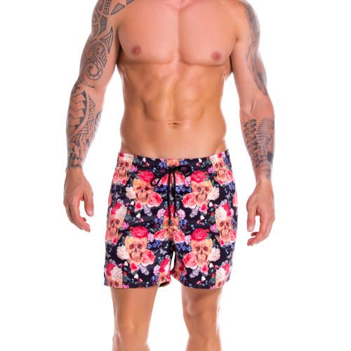 Mens Underwear - Front view of JOR Arrecife Tabasco Swim Trunks - Long Leg Swim Shorts