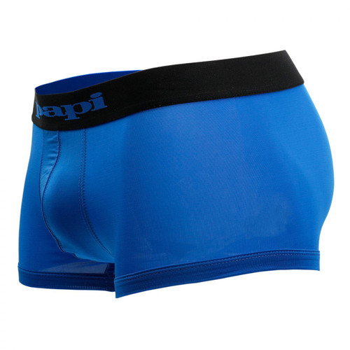 Mens Underwear - Front view of Papi Underwear Cool 2 Neat Brazilian Trunks 2 Pack - Blue / Navy