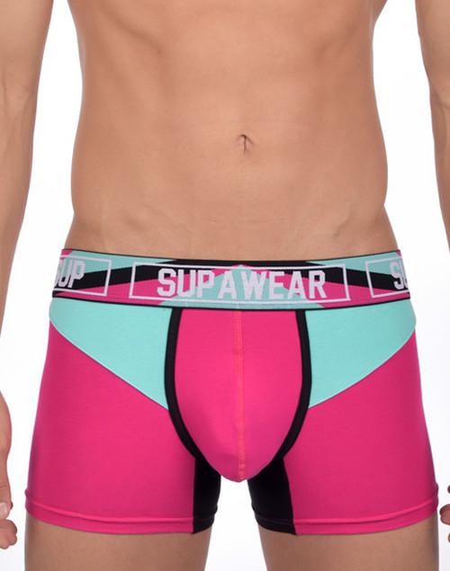 Men's Underwear - Front view of VORTEX long trunk by SUPAWEAR