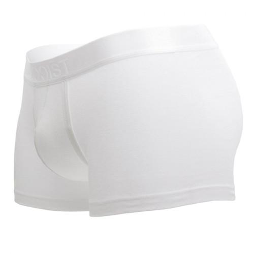 2(X)IST Mens Underwear Pima Cotton Trunk in White - No Model