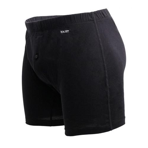 2(X)IST Mens Underwear Pima Cotton Knit Boxer Short in Black - No Model