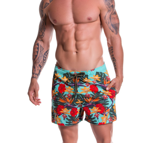 Mens Underwear - Front view of JOR Swimwear Garden Swim Shorts - Mens Swimwear