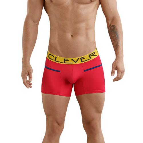 Mens Underwear - Front view of Clever Underwear Czech Piping Boxer - Mens Trunk Style Underwear