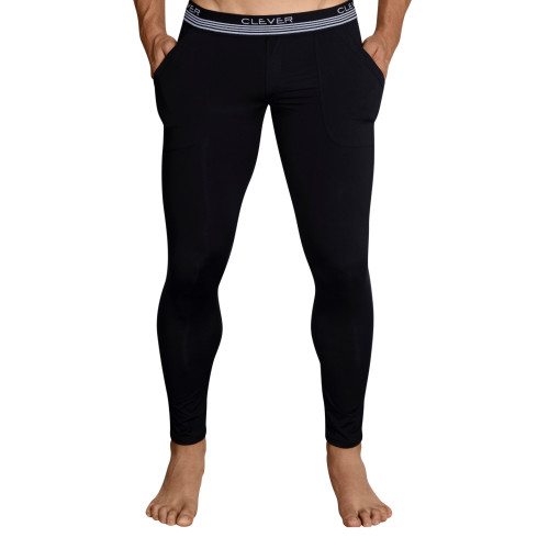 Mens Underwear - Front view of Clever Underwear Juliano Athletic Pants - Athletic Long Underwear
