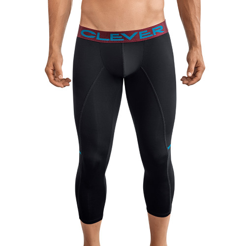 Mens Underwear - Front view of Clever Underwear Power Athletic Pants - Long Athletic Underwear