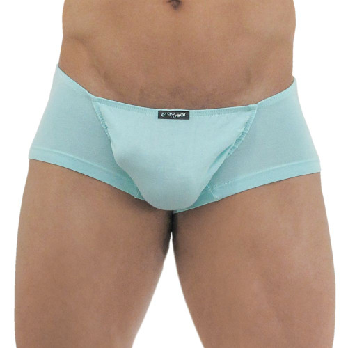 Ergowear Mens Underwear - FEEL Modal Mini Boxer in Aqua - Ergonomic Pouch Underwear - Front