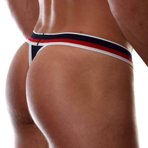Mens Underwear - Front view of Doreanse Metro Thong in Navy - Male Thong