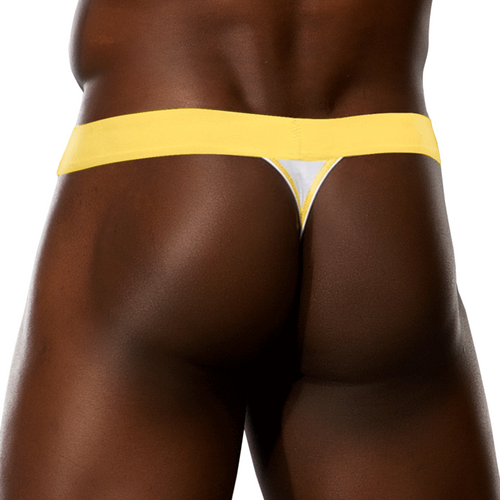 Mens Underwear - Front view of Doreanse Micro-Modal Thong in White - Male Thong