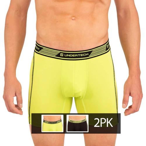 Undertech Sports Mesh Boxer Briefs 2 Pack - Black / Green