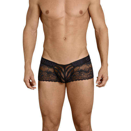 Mens Underwear - Front view of CandyMan See Thru Lace Boxer Briefs - Sexy Mens Lingerie Underwear