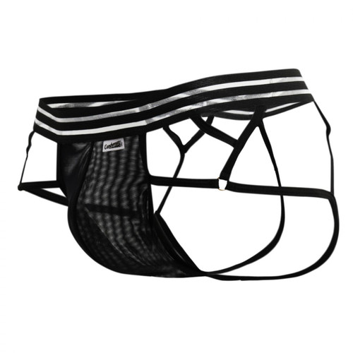 Mens Underwear - Front view of CandyMan See Thru Pouch Thong Boxer - Mens Lingerie