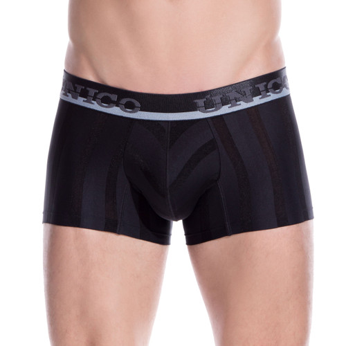 Mens Underwear - Front view of Unico Underwear Azabache Trunks - Mens Underwear