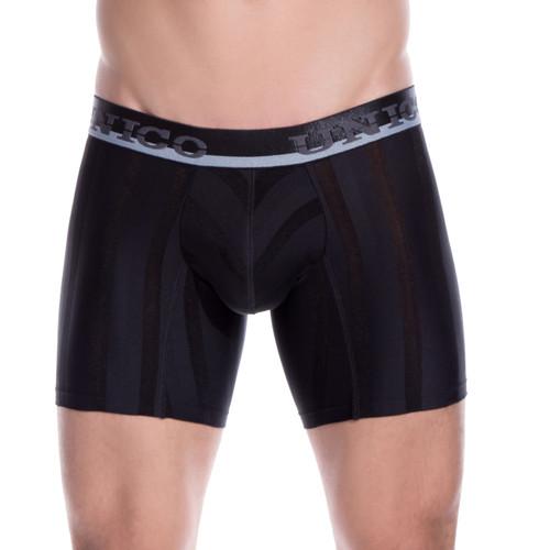Mens Underwear - Front view of Unico Underwear Azabache Boxer Brief - Mens Underwear