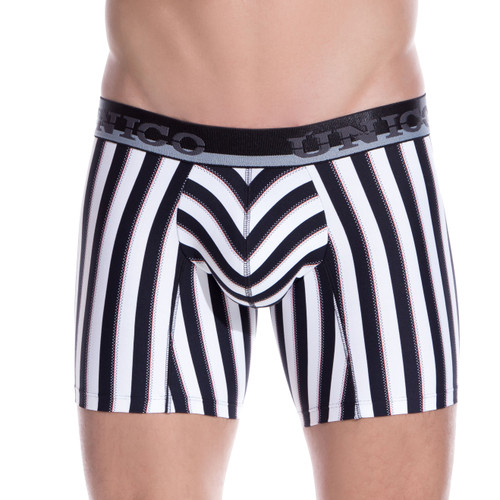 Mens Underwear - Front view of Unico Underwear Blocks Boxer Brief - Mens Underwear