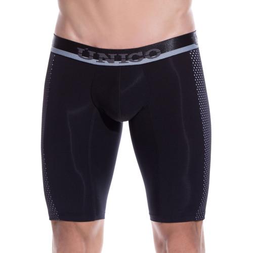 Mens Underwear - Front view of Unico Underwear Puntillizmo Long Boxer Brief - Mens Underwear
