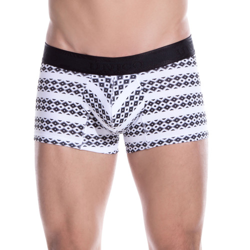 Mens Underwear - Front view of Unico Underwear Trail Trunks - Mens Boxer Brief Style Undies