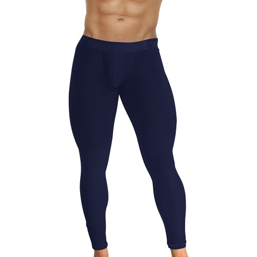 Ergowear Mens Underwear - MAX XV Leggings in Silver - Ergonomic Pouch Athletic Underwear - Front