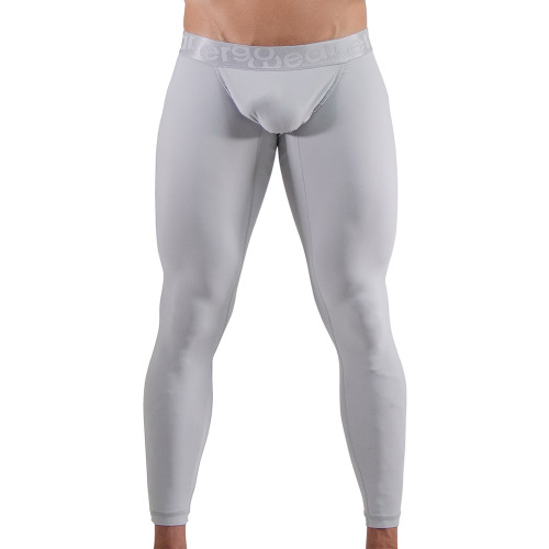 Ergowear Mens Underwear - XV Leggings in Silver - Ergonomic Pouch Athletic Underwear - Front