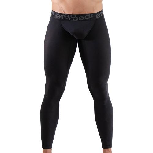 Ergowear Mens Underwear - FEEL XV Leggings in Black - Ergonomic Pouch Athletic Underwear - Front