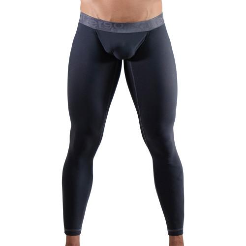 Ergowear Mens Underwear -FEEL XV Leggings in Space Grey - Ergonomic Pouch Athletic Underwear - Front