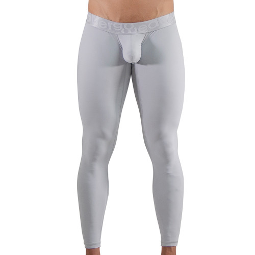 Ergowear Mens Underwear - MAX XV Leggings in Silver - Ergonomic Pouch Athletic Underwear - Front