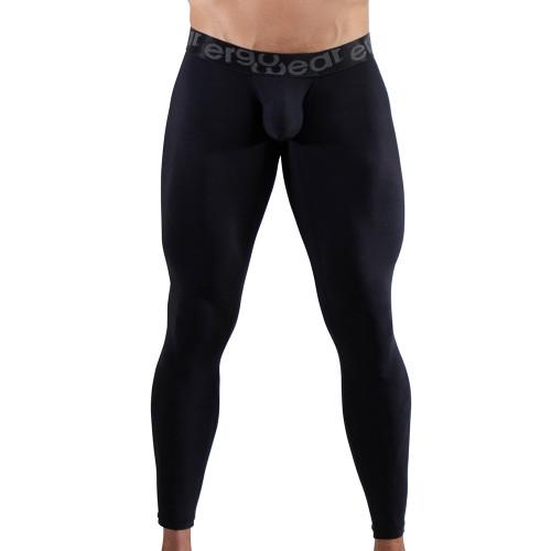 Ergowear Mens Underwear - MAX XV Leggings in Black - Ergonomic Pouch Athletic Underwear - Front