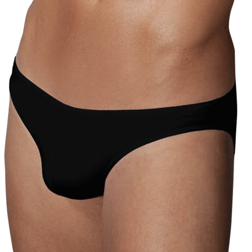 Mens Underwear - Front view of Doreanse Underwear Hang-loose Bikini Brief in Black - Mens Underwear