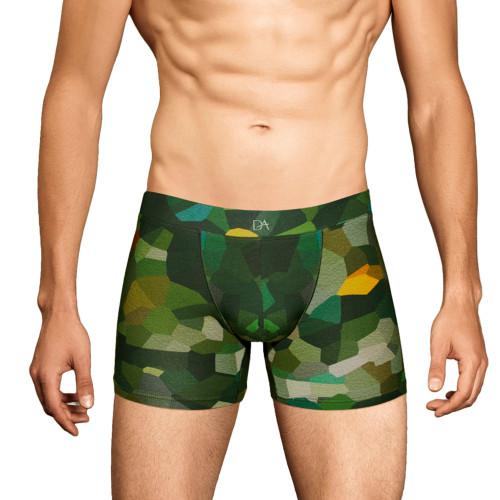 Mens Underwear - Front view of Doreanse Underwear Camo Mosaic Boxer - Mens Underwear