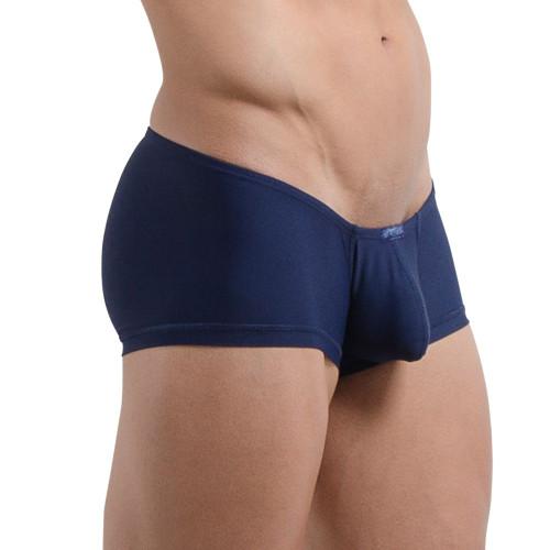 Mens Underwear - Front view of Ergowear X4D Mini Boxer in Navy - Enhancing Mens Pouch Underwear