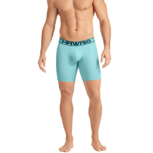 Mens Underwear - Front view of HAWAI Classic Long Boxer Briefs - Long Athletic Style Mens Underwear