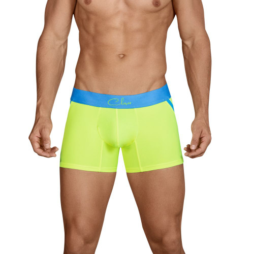 Mens Underwear - Front view of Clever Underwear Fidelity Boxer - Trunk style Mens Boxer Brief Underwear