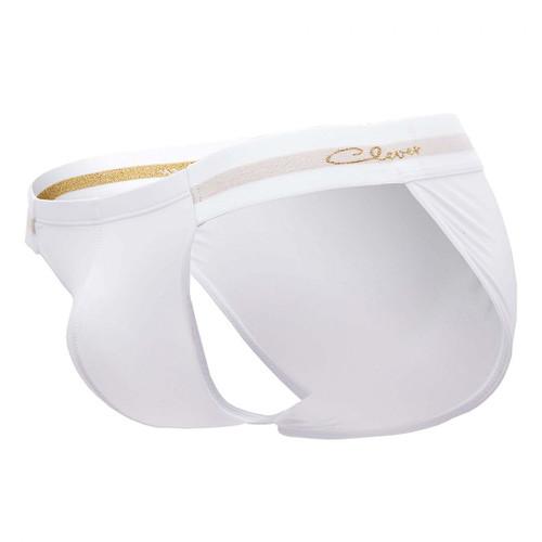 Mens Underwear - Front view of Clever Underwear Identity Briefs - Sexy Bikini Brief Style Mens Underwear