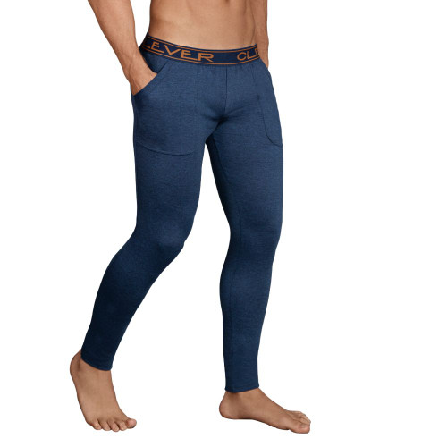 Mens Underwear - Front view of Clever Underwear Cale Athletic Pants - Soft Long Workout Pants with Pockets