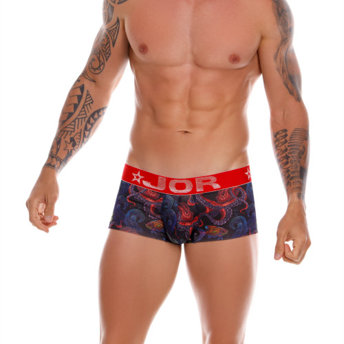 Mens Underwear - Image of JOR Underwear Octopus Boxer - Stylish Printed Mens Boxer Brief Style Underwear